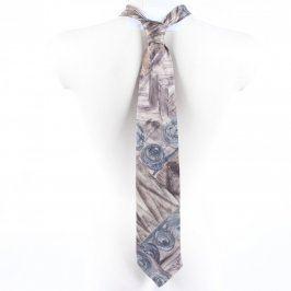 Pánská kravata C&A šedo-modro-hnědá