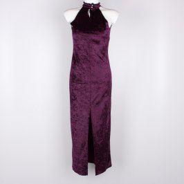 Dámské fialové dlouhé šaty Catherine