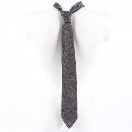Vzorovaná pánská kravata šedá