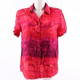 Dámská červená košile C&A květinový motiv