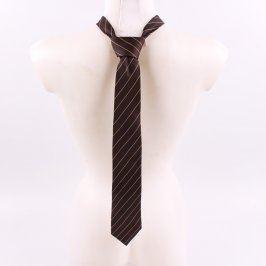 Pánská kravata Reine Seide černá s proužky
