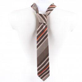 Pánská kravata Hedva šedá pruhovaná