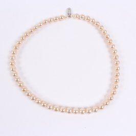 Perleťový náhrdelník 45 cm béžový