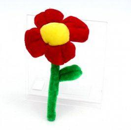 Plyšová květina červená