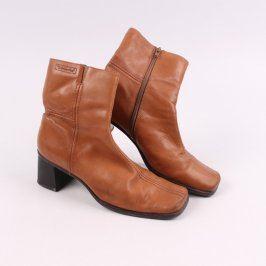 Dámské zimní kotníkové boty Tamaris hnědé
