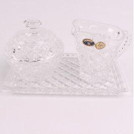 Stolní sada ze skla Bohemia Crystal
