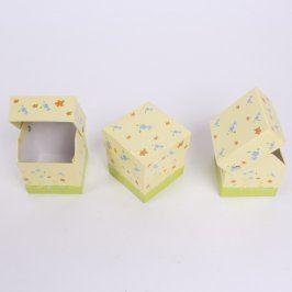 Papírové krabičky 3 ks ozdobné
