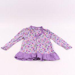 Dětská tunika s volánem Lindex fialová