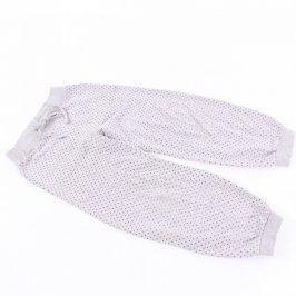 Dívčí tepláky odstín šedé a fialová srdíčka