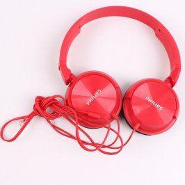 Náhlavní sluchátka Philips červená
