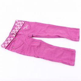 Dívčí fialové kalhoty s páskem Dopo Dopo