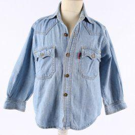 Dětská bunda Anvil Brand modré barvy