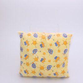 Dětský polštářek žlutý 28 x 28 cm