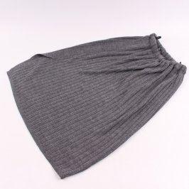 Dámská dlouhá sukně s rozparkem šedá