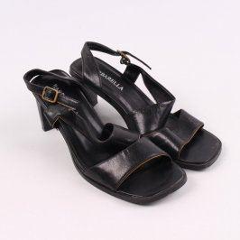 Dámské černé boty Barbarella na podpatku