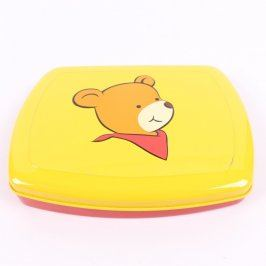 Plastová krabička s medvídkem