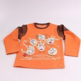 Dětská mikina odstín oranžové