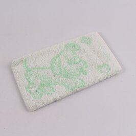 Mycí žínka se vzorem pejska Frotex zelená