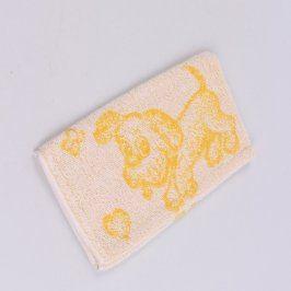Mycí žínka se vzorem pejska Frotex žlutá