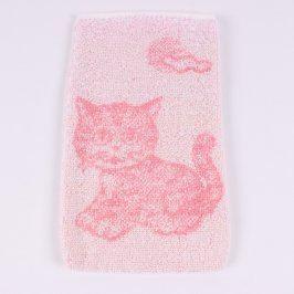 Mycí žínka se vzorem kočičky Frotex růžová