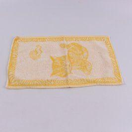 Ručník Frotex žlutý s kočkou