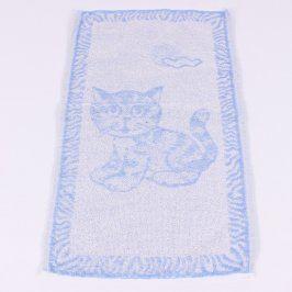 Ručník Frotex světle modrý s kočkou