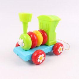 Lokomotiva plastová různobarevná