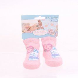 Dětské ponožky růžové ANGEL