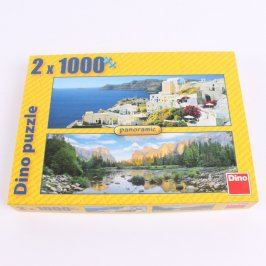 Puzzle DINO Panorama 2x 1000 ks