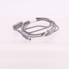 Datový kabel miniUSB šedý délka 150 cm
