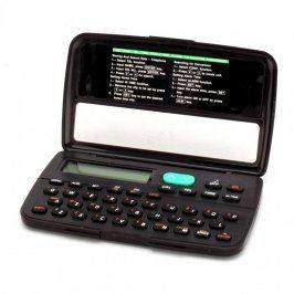 Digitální databanka s kalkulačkou a alarmem