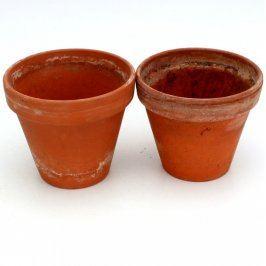 Keramické květináče cihlové 2 kusy