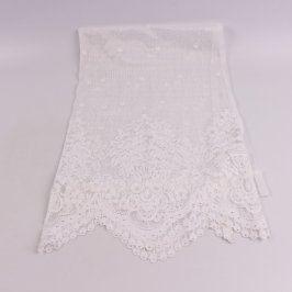 Záclona bílá pro navlečení na tyč