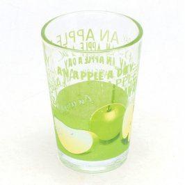 Sklenice s motivem zeleného jablka