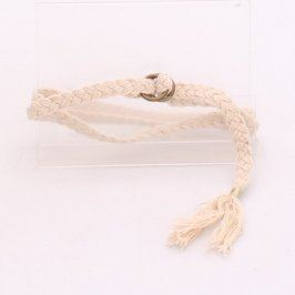 Dámský opasek pletený bílý