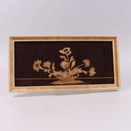 Obraz dřevěný s motivem květin