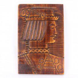 Dřevěný obraz vyrytý pán