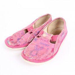 Dětské bačkory růžové barvy