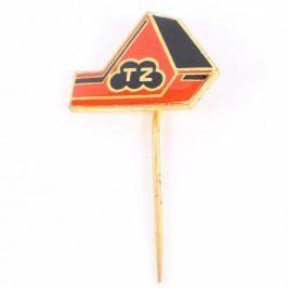Odznak červenočerný s písmeny TZ