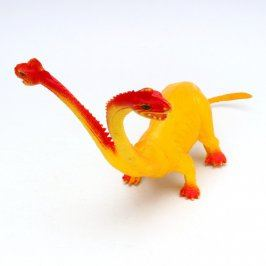 Gumová figurka dvouhlavého dinosaura