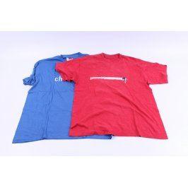 Pánská trička 2 ks červené a modré