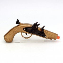 Pistole dětská zlaté barvy