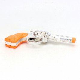Pistole stříbrno - oranžová
