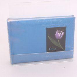 Fotoalbum modré s motivem tulipánu