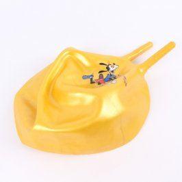 Nafukovací míč žluté barvy