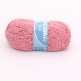 Pletací příze Jogging růžové barvy