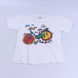 Dětské tričko bílé barvy s obrázkem kola