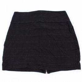 Dámská mini sukně Fishbone v černé barvě