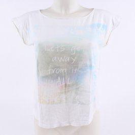 Dámské tričko Mango bílé s barevným potiskem