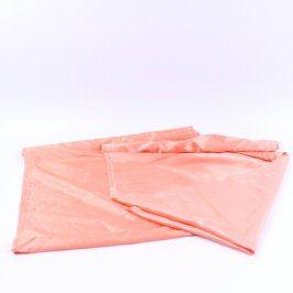 Závěsy oranžové lesklé 2 kusy